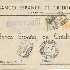 Sellos: ESPAÑA. CARTA CERTIFICADA DE GRANADA A CÓRDOBA. Lote 146896170