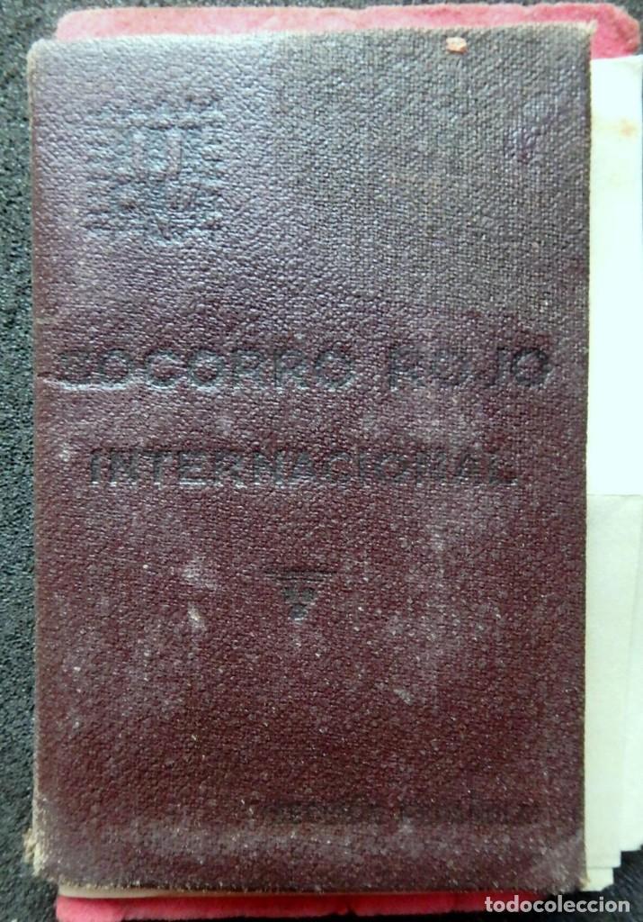 Sellos: (JX-190135)Dos carnets de Socorro Rojo Internacional,Comité de Ubeda,Muchas Viñetas,Guerra Civil - Foto 2 - 146973458