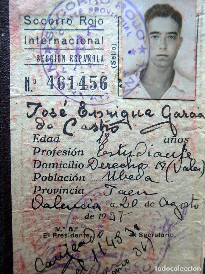 Sellos: (JX-190135)Dos carnets de Socorro Rojo Internacional,Comité de Ubeda,Muchas Viñetas,Guerra Civil - Foto 3 - 146973458