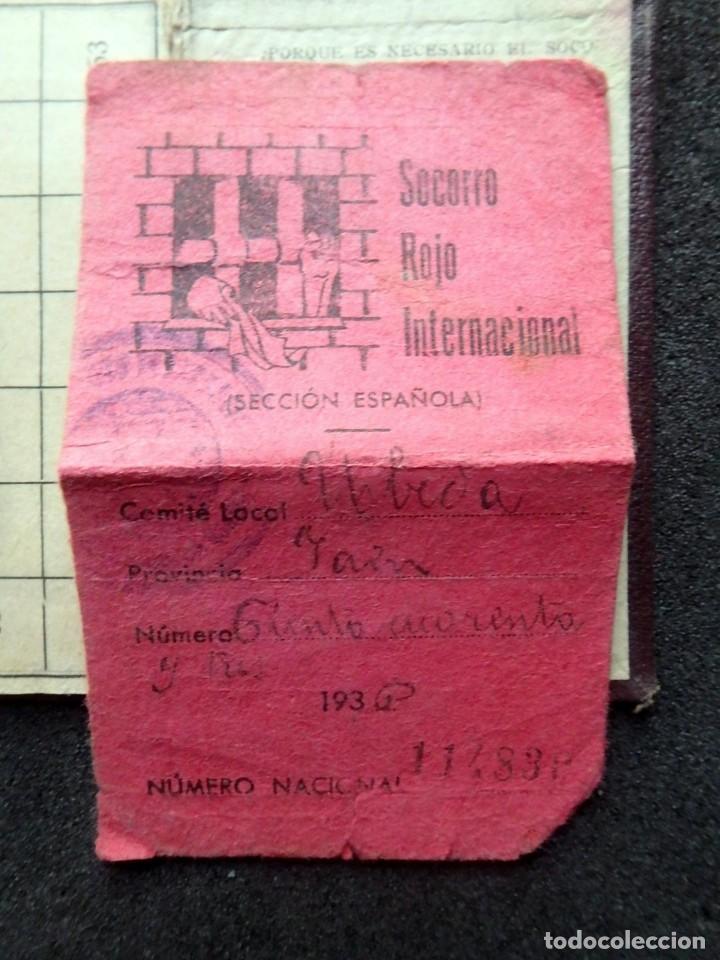 Sellos: (JX-190135)Dos carnets de Socorro Rojo Internacional,Comité de Ubeda,Muchas Viñetas,Guerra Civil - Foto 7 - 146973458