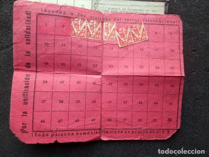 Sellos: (JX-190135)Dos carnets de Socorro Rojo Internacional,Comité de Ubeda,Muchas Viñetas,Guerra Civil - Foto 8 - 146973458