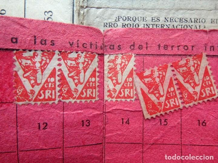 Sellos: (JX-190135)Dos carnets de Socorro Rojo Internacional,Comité de Ubeda,Muchas Viñetas,Guerra Civil - Foto 9 - 146973458