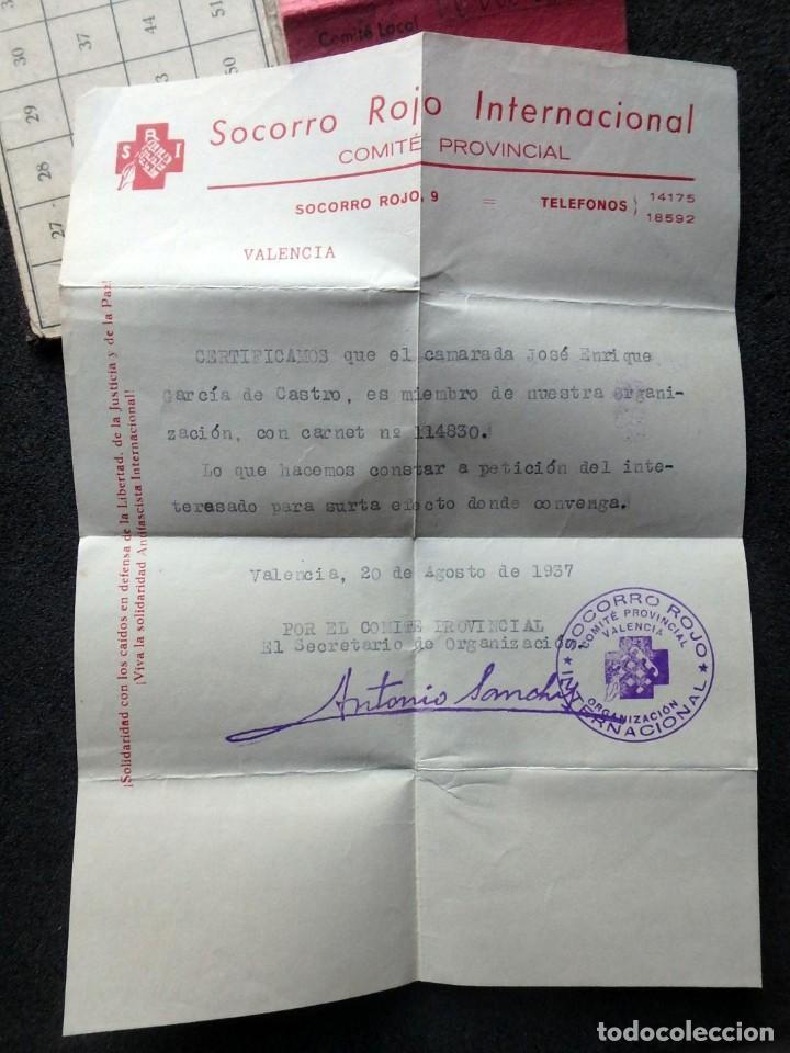 Sellos: (JX-190135)Dos carnets de Socorro Rojo Internacional,Comité de Ubeda,Muchas Viñetas,Guerra Civil - Foto 12 - 146973458