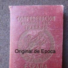 Sellos: (JX-190138)CARNET DE LA C.N.T. VALENCIA , GUERRA CIVIL , SINDICATO ÚNICO DE LA ENSEÑANZA , VIÑETAS .. Lote 147006618
