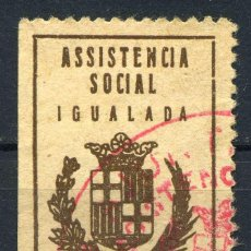 Sellos: ESPAÑA. GUERRA CIVIL. IGUALADA. EDIFIL Nº49. Lote 147129586