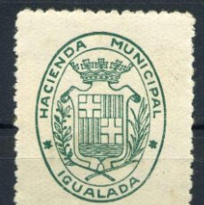 Sellos: ESPAÑA. GUERRA CIVIL. IGUALADA. EDIFIL Nº49A. TIPO 50, VALOR DE 25CTS. NO RESEÑADO. Lote 147129734