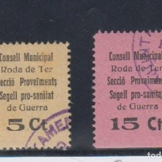 Francobolli: RODA DE TER (BARCELONA). EDIFIL 3 US - 4 US. Lote 146994018