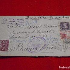 Sellos: SOBRE CIRCULADO DE MADRID A REPÚBLICA ARGENTINA EN 1939. CENSURA MILITAR.. Lote 147282710