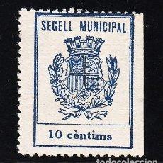 Sellos: ,,,TIMBRE SEGELL MUNICIPAL, 10 CTMS. SIN GOMA . Lote 147354318