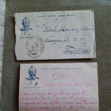 Sellos: GUERRA CIVIL - SOBRE PATRIOTICO - FRANQUICIA GRUPO DIVISIONARIO SECCION DE MONTAÑA SANIDAD MILITAR. Lote 147440998