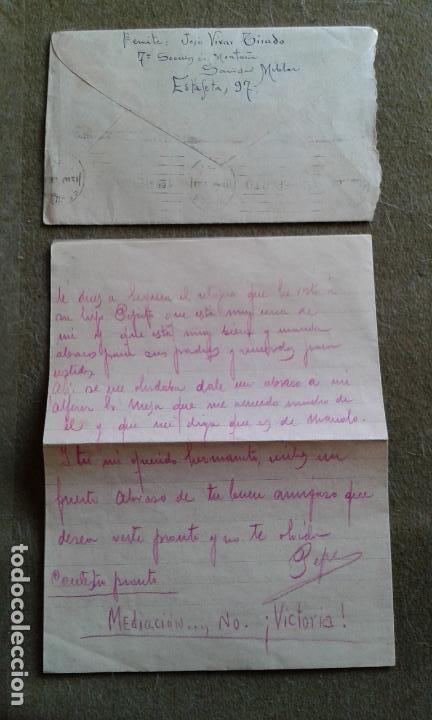 Sellos: GUERRA CIVIL - SOBRE PATRIOTICO - FRANQUICIA GRUPO DIVISIONARIO SECCION DE MONTAÑA SANIDAD MILITAR - Foto 2 - 147440998