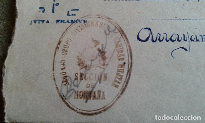 Sellos: GUERRA CIVIL - SOBRE PATRIOTICO - FRANQUICIA GRUPO DIVISIONARIO SECCION DE MONTAÑA SANIDAD MILITAR - Foto 3 - 147440998