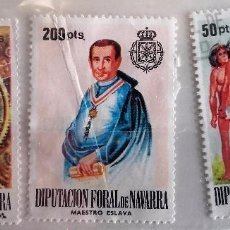 Sellos: NAVARRA, 3 SELLOS PÓLIZAS DE LA DIPUTACIÓN FORAL DE NAVARRA NUEVOS . Lote 147621482