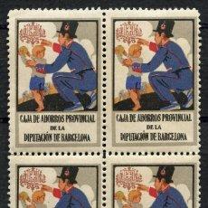 Sellos: VIÑETA, CAJA DE AHORROS PROVINCIAL DE LA DIPUTACIÓN DE BARCELONA, (4). Lote 147638622