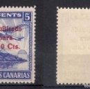Sellos: ESPAÑA CANARIAS 5 CENTS. HABILITADO 0.10 CTS ** - 4/6. Lote 147750582