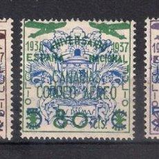 Sellos: ESPAÑA CANARIAS 1937 EDIFIL 31/33 **/* - 4/5. Lote 147752878