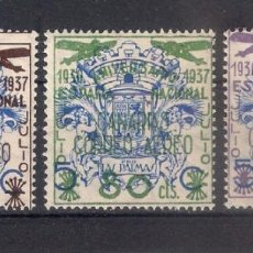 Sellos: ESPAÑA CANARIAS 1937 EDIFIL 31/33 * - 4/5. Lote 147752950