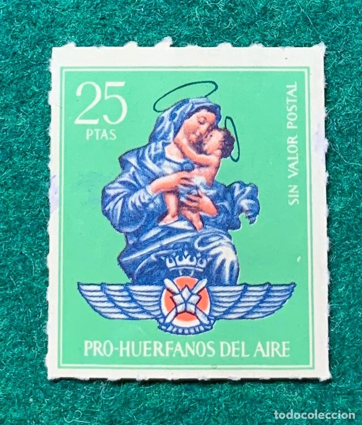 PRO HUÉRFANOS DEL AIRE. 25 PTA (Sellos - España - Guerra Civil - Beneficencia)