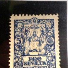 Sellos: PRO SEVILLA 5 CENTIMOS.(AZUL). Lote 147852950