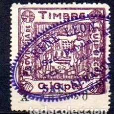 Sellos: ESPAÑA. GUERRA CIVIL. GUIPUZCOA. TIMBRE 0,10PTS VIOLETA. Lote 148149802