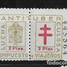 Sellos: VIZCAYA. LUCHA ANTITUBERCULOSA 2 PESETAS. Lote 148320562