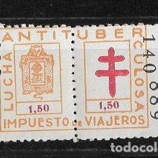 Sellos: VIZCAYA. LUCHA ANTITUBERCULOSA 1,50 PESETAS. Lote 148320906