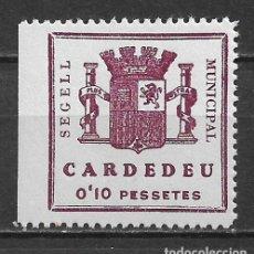 Sellos: ESPAÑA - GUERRA CIVIL - LOCALES - CARDEDEU - NUMERACION VERTICAL * MH - 2/51. Lote 148353646