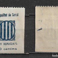 Sellos: ESPAÑA - GUERRA CIVIL - LOCALES - SARRAL ** MNH - 2/49. Lote 148483662