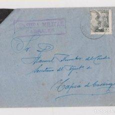 Sellos: SOBRE DE CARREÑA DE CABRALES A TAPIA DE CASARIEGO. ASTURIAS. CENSURA. CONSERVA LA CARTA. 1941. Lote 148553826
