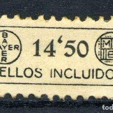Sellos: ESPAÑA. TIMBRES PRIVADOS. BAYER. 14'50. Lote 148784538