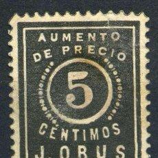 Sellos: ESPAÑA. TIMBRES PRIVADOS. J. ORUS 5CTS. Lote 148784846