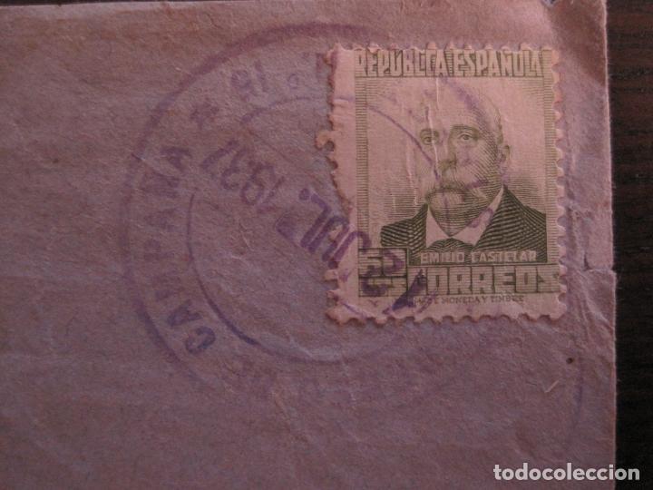 Sellos: SOBRE CIRCULADO- CARTA CENSURADA-CORREO DE CAMPAÑA-GUERRA CIVIL-VER FOTOS-(V-15.873) - Foto 3 - 148831206