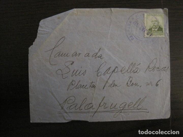 SOBRE CIRCULADO- CARTA CENSURADA-CORREO DE CAMPAÑA-GUERRA CIVIL-VER FOTOS-(V-15.873) (Sellos - España - Guerra Civil - De 1.936 a 1.939 - Cartas)