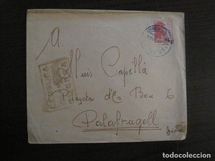 SOBRE CIRCULADO-CENSURA DE GUERRA-CORREO DE CAMPAÑA-GUERRA CIVIL-VER FOTOS-(V-15.875) (Sellos - España - Guerra Civil - De 1.936 a 1.939 - Cartas)