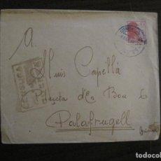 Sellos: SOBRE CIRCULADO-CENSURA DE GUERRA-CORREO DE CAMPAÑA-GUERRA CIVIL-VER FOTOS-(V-15.875). Lote 148831882