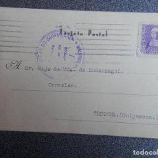Sellos: TARJETA CENSURA MILITAR GUIPUZCOA A CESTONA AÑO 1939. Lote 148867837