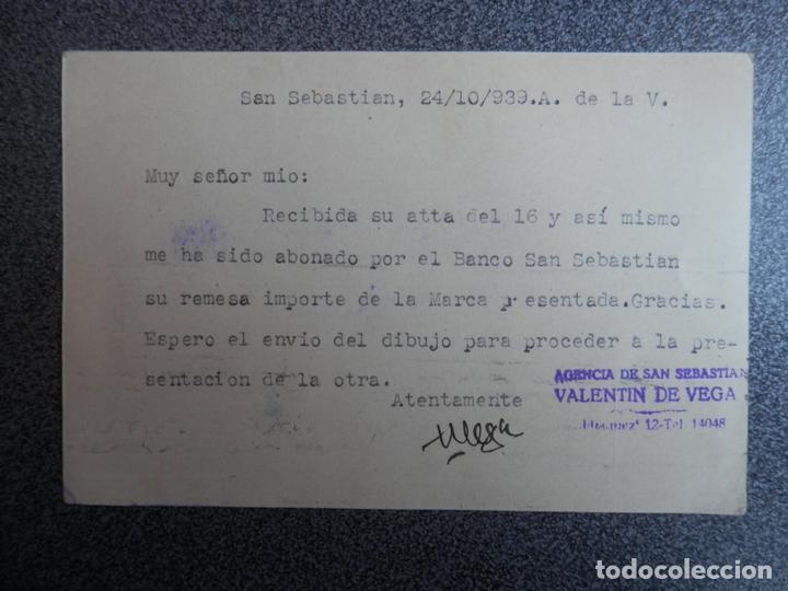 Sellos: TARJETA CENSURA MILITAR GUIPUZCOA A CESTONA AÑO 1939 - Foto 2 - 148867837