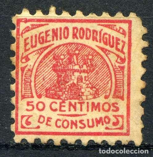 ESPAÑA. CUPONES. AHORRO - PRIMA. EUGENIO RODRÍGUEZ 50CTS (Sellos - España - Guerra Civil - Viñetas - Nuevos)