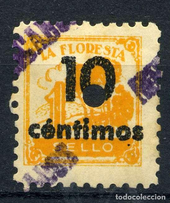 ESPAÑA. CUPONES. AHORRO - PRIMA. LA FLORESTA 10CTS (Sellos - España - Guerra Civil - Viñetas - Nuevos)