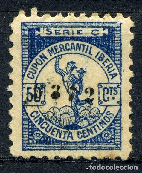 ESPAÑA. CUPONES. AHORRO - PRIMA. CUPÓN MERCANTIL IBERIA 50CTS (Sellos - España - Guerra Civil - Viñetas - Nuevos)