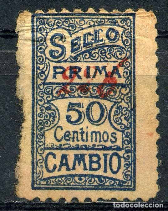 ESPAÑA. CUPONES. AHORRO - PRIMA. SELLO PRIMA 50CTS CAMBIO (Sellos - España - Guerra Civil - Viñetas - Nuevos)