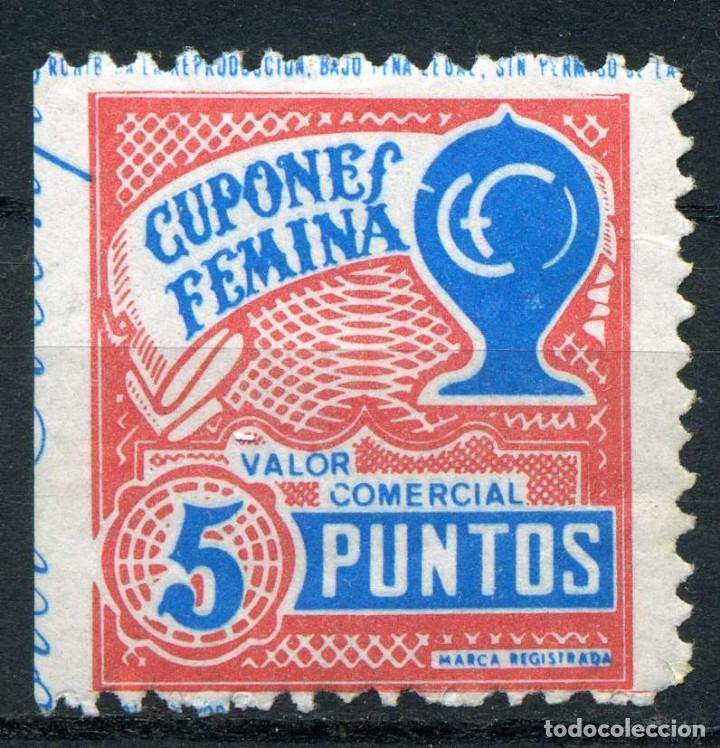 ESPAÑA. CUPONES. AHORRO - PRIMA. CUPONES FEMINA. 5 PUNTOS (Sellos - España - Guerra Civil - Viñetas - Nuevos)