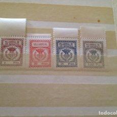 Sellos: VILLARREAL DE LOS INFANTES-1-20-25-100 PESETAS. Lote 148927402