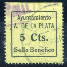 Sellos: ESPAÑA. GUERRA CIVIL. ALMADÉN DE LA PLATA (SEVILLA). EDIFIL Nº2. Lote 149163826