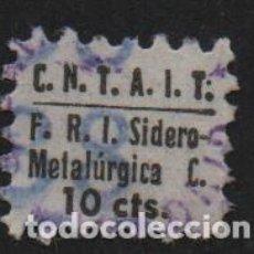 Sellos: C.N.T. A.I.T. 10 CTS. F.R.I. SIDEROMETALURGICA, VER FOTO. Lote 149309014
