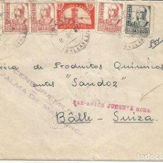 Sellos: SOBRE FRANQUEADO EN CONSELL (MALLORCA) EL 8 DICIEMBRE 1937, PARA SUIZA, CON CENSURA MILITAR. Lote 149670282