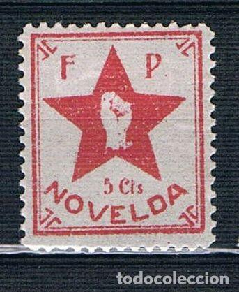 Sellos: Guerra Civil Sello local Novelda FP 5 cts. * 005ENE19 - Foto 1 - 149677486