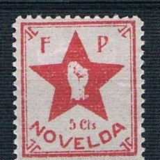 Sellos: GUERRA CIVIL SELLO LOCAL NOVELDA FP 5 CTS. * 005ENE19. Lote 149677486