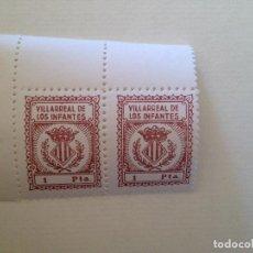 Sellos: VILLARREAL DE LOS INFANTES-1 PESETA. Lote 149690702