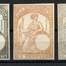 Sellos: VIÑETA, SELLO FISCAL, ALFONSO XII, IMPUESTO DE GUERRA, 1876, 3 VALORES. Lote 149697234